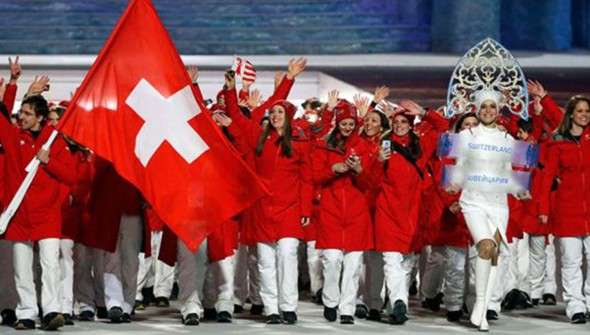 The Swiss Olympic team in Sochi.