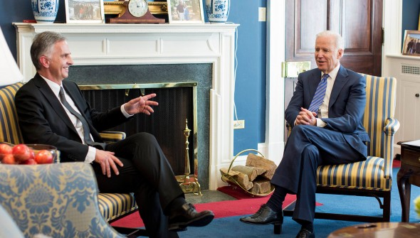 U.S. Vice President Biden praised the strong and important friendship between Switzerland and the U.S. and expressed deep appreciation for Switzerland's continued protection of U.S. interests in Iran and Cuba.