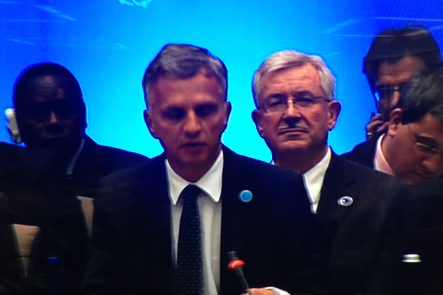 Federal Councilor Didier Burkhalter speaking at the Anti-Terrorist Summit in Spring 2015 in Washington DC
