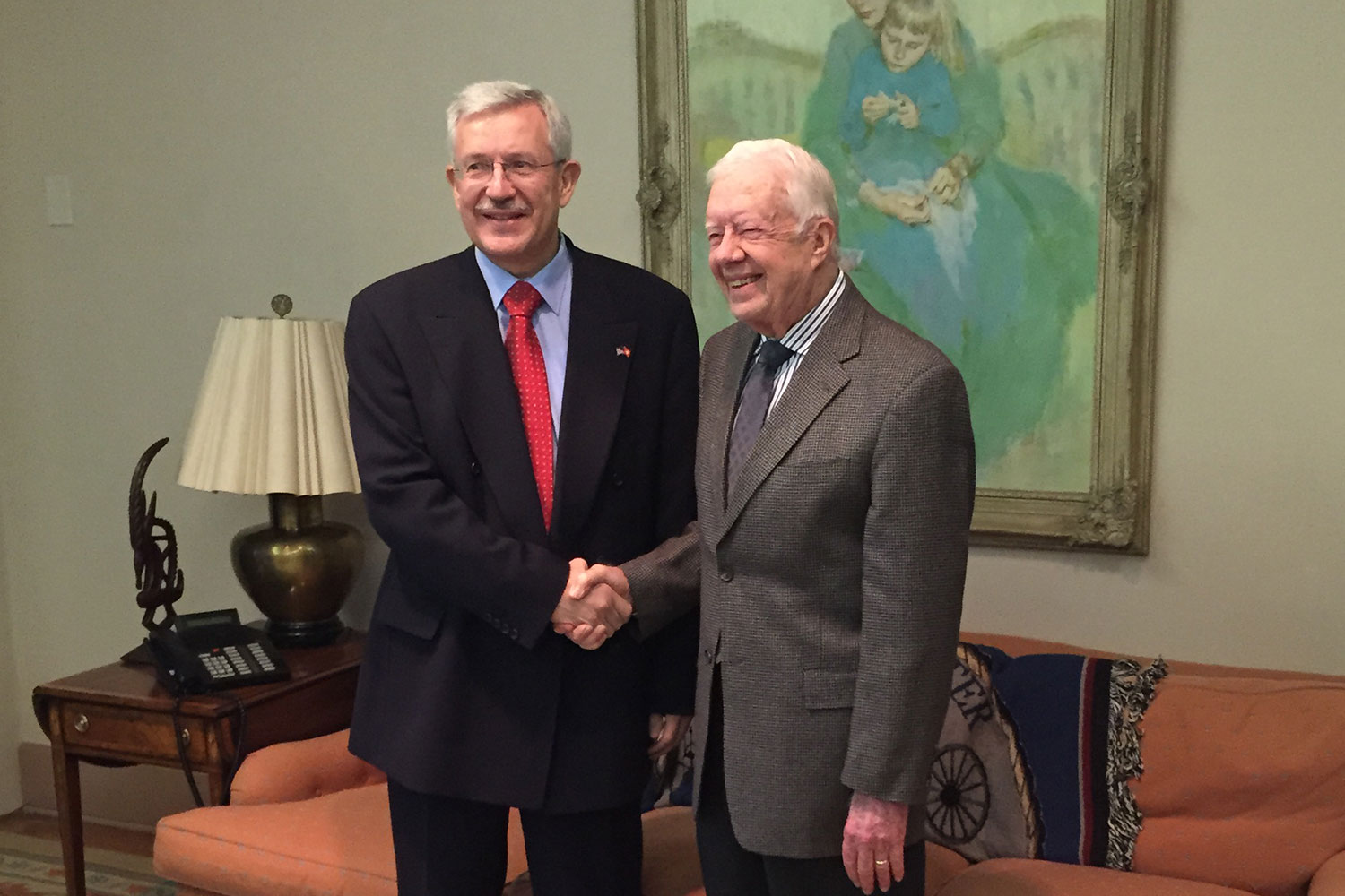Ambassador and Former President Jimmy Carter in Atlanta